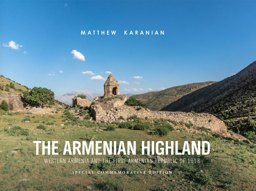 Available only in print hardcover, The Armenian Highland's high-quality, striking images capture the reader in a way that pixels on a screen simply can't. (Book cover courtesy of Matthew Karanian)